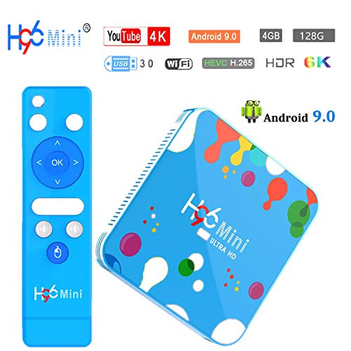 4G 128G Android TV Box , H96 Mini H6 Android 9.0 Smart TV Box Quad Core 4G DDR3...