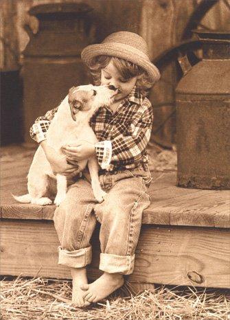 Girl Holds Jack Russell - Avanti Funny Friendship Card