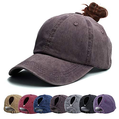 Cappello da Baseball Donna - Baseball cap Berretto di Coda, Regolabile da Baseball Cappellini Cappello con Visiera Fila Unisex per Adulto One Size (caffè)