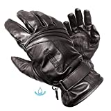 Olympia 180 Monsoon Classic Motorcycle Gloves (Black, Large)