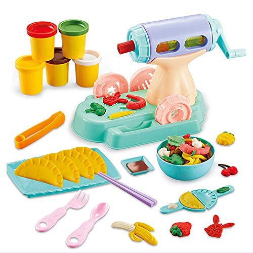 DIY Plasticine Speelgoed, Kinderen Color Clay Toys, Puzzle Color Mud Set for Kids, Multi-Function Deeg Machine 3D Noodles, Geschikt Voor Kinderen Van 3-8