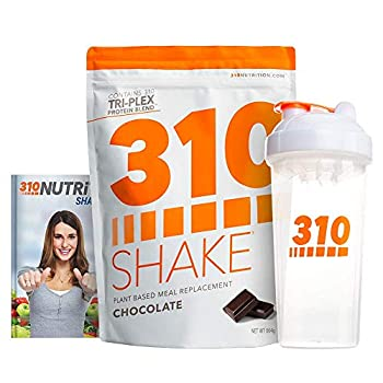 Chocolate Plant Protein Powder and Meal Replacement Shake | Gluten Soy Protein and Dairy Free - 0g of Sugar | Keto and Paleo Friendly | Includes Clear Shaker and Recipe eBook  Digital  | 28 Servings
