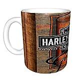 Harley Davidson divertida taza de café lesbianas comer lo novedad divertido regalo para hombres mujeres marido esposa Co trabajador