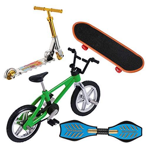BESPORTBLE Juego de Mini Juguetes para Los Dedos Bicicletas de Patineta de Dedo Scooter Pequeño Tablero de Oscilación Movimiento de La Punta del Dedo Juguete Educativo Temprano para Navidad