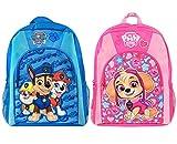 WENTS - 2 mochilas escolares para niños con hebilla en el pecho de La patrulla canina