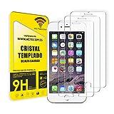 ACTECOM Pack de 3 Protector de Pantalla Compatible con iPhone 6 Plus / 7 Plus / 8 Plus de 5,5' Cristal Templado CASE FRIENDLY 9H 2.5D (3 uds.)