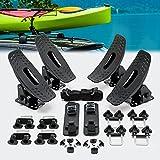 Wiltec Supporto Porta Kayak Canoe Barche 4 pz. per Tetto Auto Portapacchi Veicolo