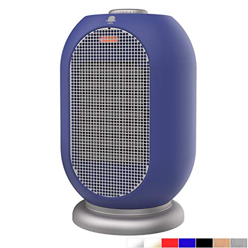 MRMIKKI Mini Space Heater, Small Electric Heater, 1200W/750W Heating Fan, Portable Ceramic Space Heater, with Tip-Over and Overheating Protection, Mini Indoor Heaters, Winter Gift, VH-12TQ-BS Electric heaters Space
