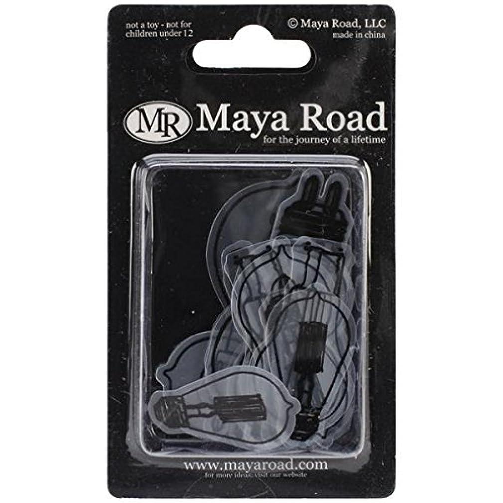 Maya Road Transparencies Die-Cuts, Eureka Light Bulbs, Black, 15-Pack