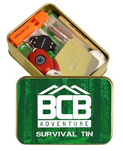 BCB Adventure Unisexe de Survie en étain, Bronze, 12 x 8.5 x 3.5 cm