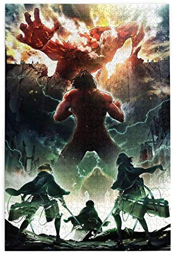 Rompecabezas Puzzles Wooden Rompecabezas Puzzles 1000 Pieces Attack On Titan Puzzles for Teen Adult Grown Up Puzzles Stress Relief Game