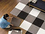 JIAJU Empalme de alfombras Paquete de Azulejos de Alfombra Alfombras Autoadhesivas de Fieltro (1 Pieza), Equiv.