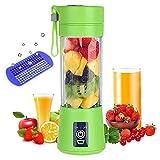 YuKeShop Mezclador portátil, mini taza de exprimidor de frutas de viaje, seis cuchillas en 3D excelente mezcla, con cable cargador USB, para frutas, cubitos de hielo, leche de soja, batido, verduras