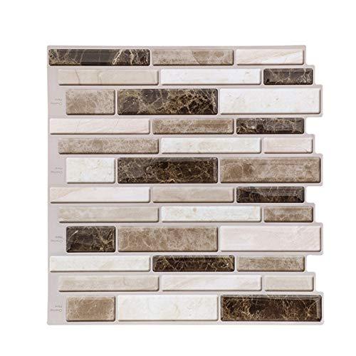 1/5/10 unids 3D impermeable baño cocina mosaico vinilo autoadhesivo azulejo etiqueta etiqueta etiqueta de pared etiqueta de mármol ladrillo (1 unidad)
