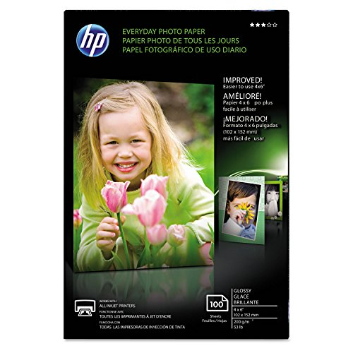 Price comparison product image HP CR759A HP Photo Paper,  4-Inch x6-Inch,  100Sht / PK,  Glossy / White