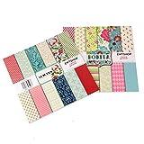 ewtshop - Carta da 48 fogli in formato 30,5 x 30,5 cm, 24 fantastici motivi stampati su entrambi i lati, carta decorativa per lavori di bricolage