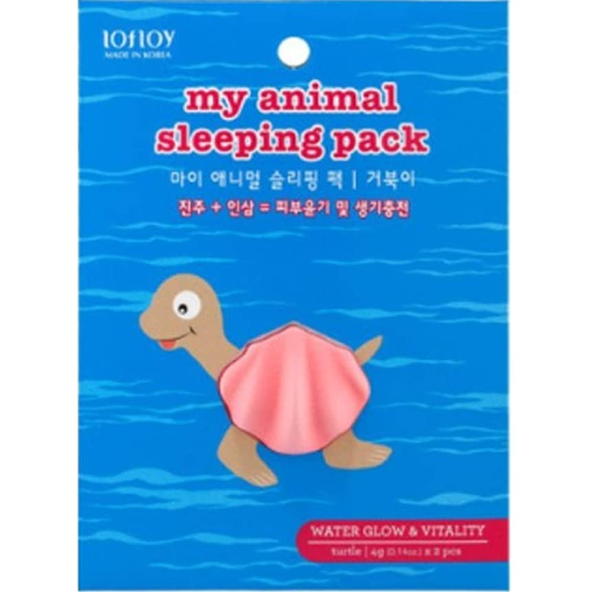 品安価な雹LOFLOY My Animal Sleeping Pack Turtle CH1379393 4g x 2PCS [並行輸入品]