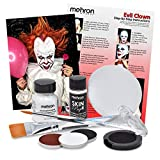 Evil Clown Halloween Makeup Kit - Professional Costume Cosmetics for a Creepy'IT Inspired Look - Dress Like Pennywise with Professional Grade Paint and Brushes - by Mehron
