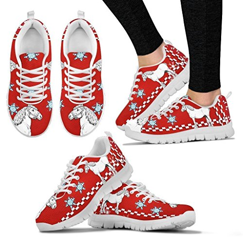 Small Dog Haus Clydesdale Horse Christmas Running Shoes for Women-Casual Sneaker