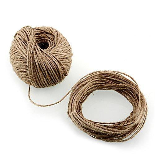 projets de jardinage d/écoration de mariage emballage de cadeaux Corde de corde de chanvre de ficelle de jute dartisanat de jute de cadeau de 100m naturel dartisanat pour la balise