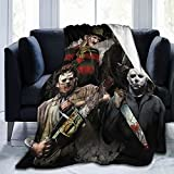 FUNGLYN Michael Myers Halloween Scary Horror Movie Soft Anti-Pilling Flannel Blanket Thin Throw Blanket for Bed Sofa Camping Traveling