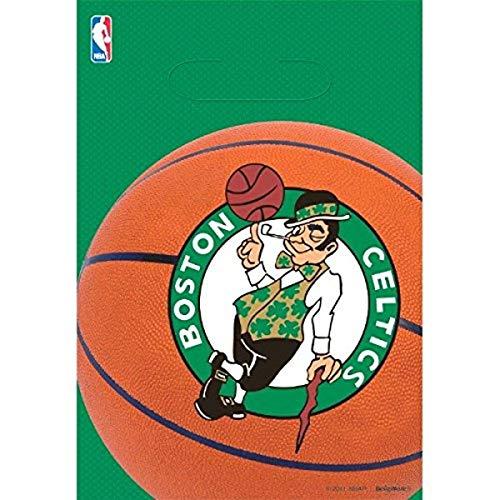 Amscan 373654 Boston Celtics NBA Collection Loot Bags, Party Favor | 8 piece