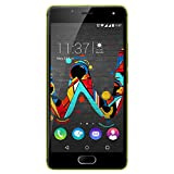 Wiko U Feel Smartphone (12,7 cm (5 Zoll) HD IPS-Display, Fingerabdruck-Sensor, 16 GB interner Speicher, Android 6 Marshmallow) limone-grau