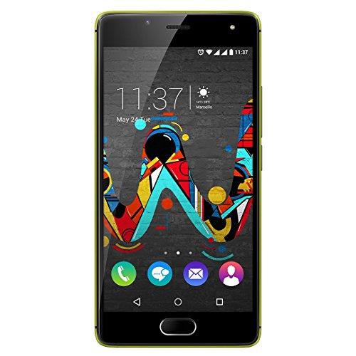 Wiko U Feel Smartphone (12,7 cm (5 Zoll) HD IPS-Bildschirm, Fingerabdruck-Sensor, 16 GB interner Speicher, Android 6 Marshmallow) limone-grau