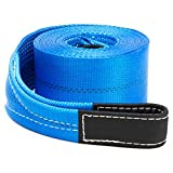 Driver Recovery 4' x 30'Heavy Duty Tow/Recovery Winch/Snatch Strap with Reinforced Loops - 20,000 Pound...