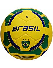 Vector X Brasil Rubber Moulded Football, Size 5, yellow-green