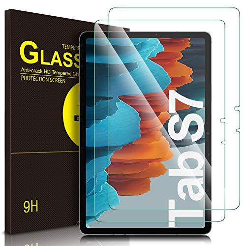ELTD Pellicola Protettiva per Samsung Galaxy Tab S7 (SM-T870/875) 11', 9H, 2,5D Vetro Temperato Protezioni Pellicola per Samsung Galaxy Tab S7 Tablet S Pen, Snapdragon 865 Plus, (2-Pezzi)