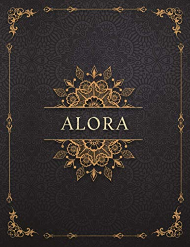 Alora Personalized Name Luxury Design Cover Lined Journal Diary Notebook: Mom, 120 Pages, A4, Goals, Management, 21.59 x 27.94 cm, To-Do List, 8.5 x 11 inch, Work List, Event