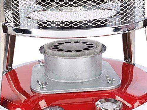 Chauffage à pétrole avec mèche & 2L Petroleum Fioul, 0,25l/h jusqu'à 18h Réservoir: 4,6l pour jusqu'à 18m²