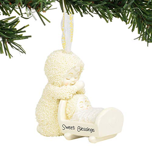 Department 56 Snowbabies Sweet Blessings Hanging Ornament, 2.75 Inch, Multicolor
