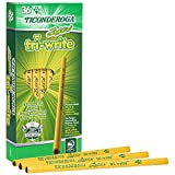TICONDEROGA Laddie Tri-Write Triangular Shaped Intermediate Wood Pencils Without Erasers, #2 HB Soft, Yellow, 36-Pack (13044)