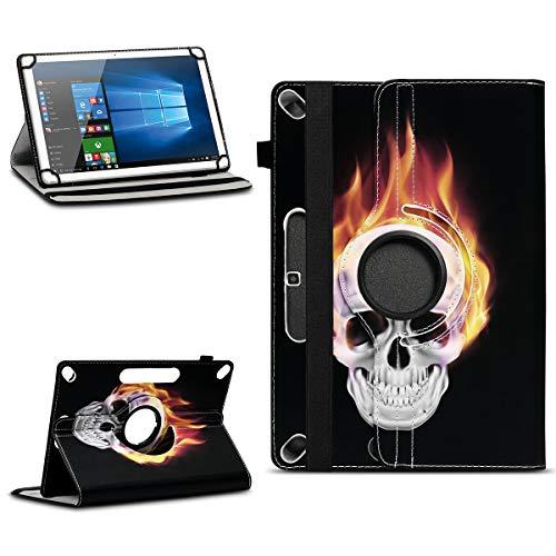 NAUC Schutzhülle kompatibel für Xido Z120 Z110 X111 X110 Tablet Tasche aus hochwertigem Kunstleder Universal 10.1 Hülle Standfunktion 360 Drehbar, Farben:Motiv 9