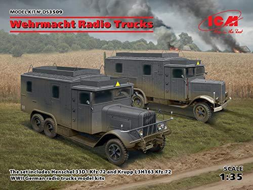 ICM ICMDS3509 Diorama 1:35-Wehrmacht Radio Camiones