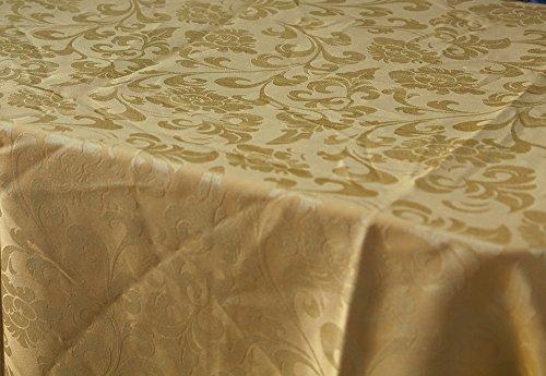 Oro Damasco Tovaglia Rettangolare 150Cm X 200Cm Cena Di Natale Festive Xmas, Gold, Table Cloth 150Cm X 200Cm