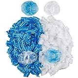 DanziX - Confezione da 200 protezioni auricolari usa e getta, impermeabili, per tinture, doccia, balneazione, colore: blu