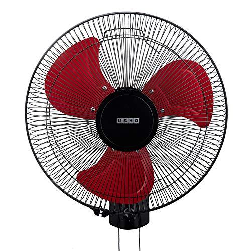 usha Colossus Rust Free Aluminium Blade 400mm Wall Fan (Red)