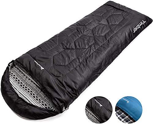 meteor Mummy Schlafsack Ideal für Kinder und Erwachsene - Camping Travel Wandern Trekking Hotel - Leichter kompakter Komfortabel mit Kompressionssack (Schwarz)