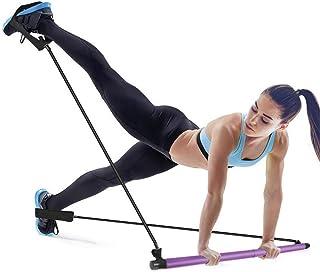 Mirooyu Portable Pilates Bar, Portable Pilates Bar Kit with Resistance Band, Adjustable Toning Yoga Stick with Foot Loop, ...