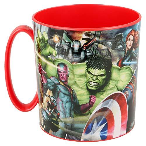 Avengers (Avengers) Tazza in plastica Micro 350 ml (Stor 87704), multicolore, 3 anni