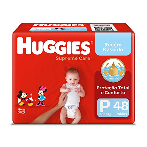 Huggies Fralda Supreme Care Mega P, 48 Fraldas