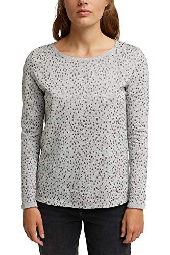 ESPRIT 090EE1K339 T-Shirt, 044/grigio Chiaro 5, XXS Donna
