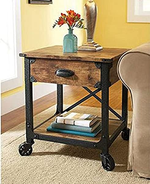 Better Homes And Gardens Rustic Country Side Table Antiqued Black Pine By Better Homes Gardens