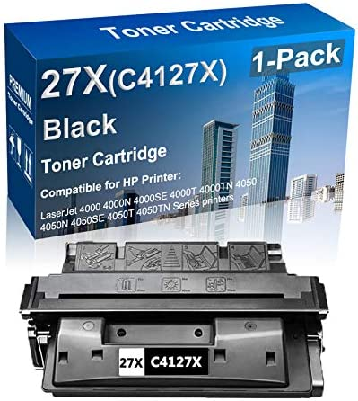 1 Pack Compatible High Yield 27X C4127X Laser Printer Toner Cartridge Use for HP Laserjet 4000 product image