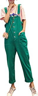 KUBIRA(クビラ) オーバーオール オールインワン サロペット レディース ロングパンツ デニム デニムジーンズ グリーン 緑 1906c1098