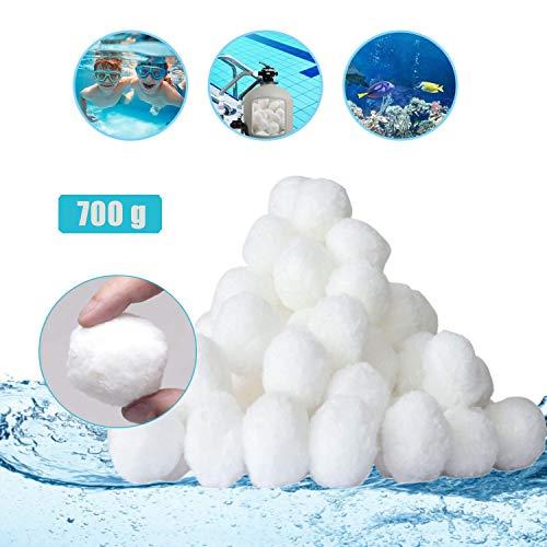 Sinwind Filterbälle, Filter Balls 700g, Poolzubehör Poolreiniger für Sandfilteranlagen, Pool Filterbälle für Leistung von 25kg Filtersand