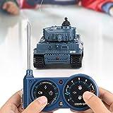 BITHEOUT Juguete del Tanque RC, Tanque RC de Escala 1/72, Juguete del Tanque de Control Remoto Juguete del Tanque 1/72 Mini Tanque de Juguete para la Familia del niño